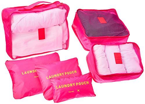 Kit organizador de malas Luxcel, Adulto-unissex, Rosa