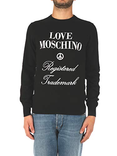 Love Moschino trui zwart met logo heren Art MSG6911X1327 col C74