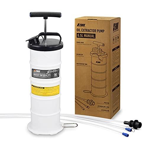 EWK 6.5L Manual Oil Extractor Pump Vacuum Oil Changer for Automobile Fluids Evacuation