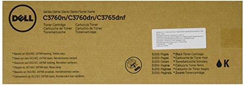 Dell KT6FG Toner Cartridge C3760N/C3760DN/C3765DNF Color Laser Printer, Black, 1 Size