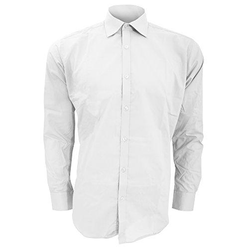 KUSTOM KIT - Chemise Coupe cintrée à Manches Longues - Homme (XS/S) (Blanc)