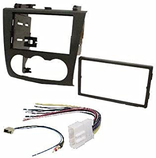 Nissan Altima 2007-2011 Double Din Aftermarket Radio Stereo Installation Dash Kit + Wire Harness and Antenna Adatper