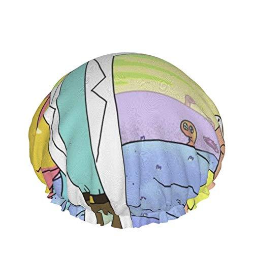 Ri-CK A-Nd Mo-RTY Fashionista Collection Gorro de baño de Doble Capa Baño Limpieza
