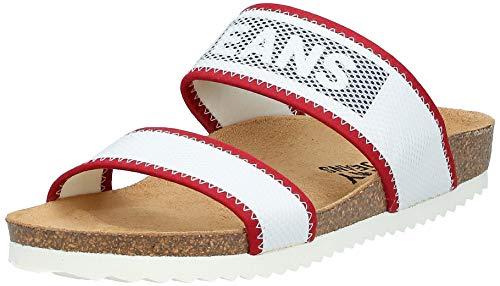 Tommy Hilfiger Technical Mesh Flat Sandal, Sandalias con Punta Abierta Mujer, Rojo (RWB 020), 42 EU