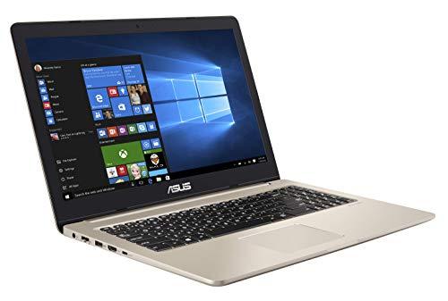 ASUS VivoBook Pro 15 N580VD 90NB0HX1-M02520 Notebook (39,6 cm, 15,6 Zoll, FHD, WV, Matt, Intel Core i7-8750H, 8GB RAM, 256GB SSD, 1TB HDD, NVIDIA GeForce GTX 1050 (4GB), Windows 10) gold metal