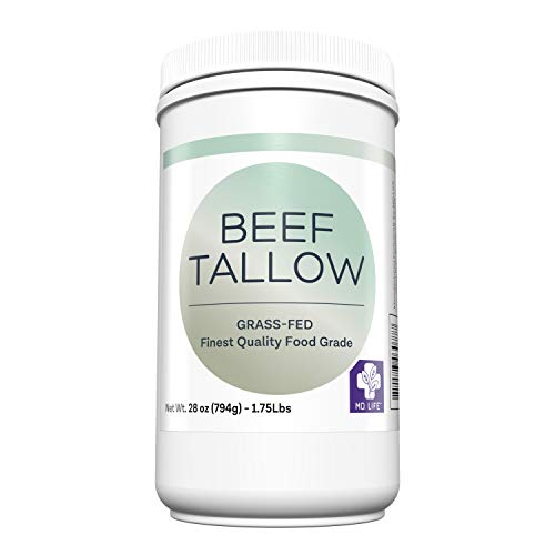 MD. Life Beef Tallow for Cooking - Food Grade Grass Fed Beef Tallow for Cooking Oil Replacement - 28 Ounces - Pasture Raised Keto Friendly Beef Tallow- Used to Make Candles & Soaps