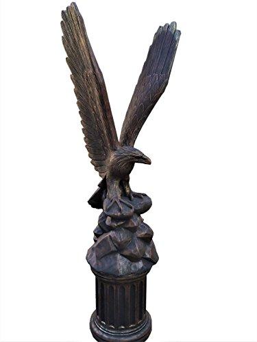 XXL Adler mit Sockel Bronze Gold Optik Höhe: 232cm Gesamtgewicht: 293KG