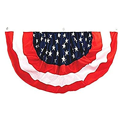Stars and Stripes Fourth of July Party Bunting Banner Decoration, nylon