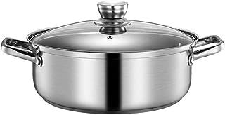 BESTonZON Yin Yang Hot Pot Wok Hotpot Chinese shabu pan, Chinese pan met verdeler, soeppan roestvrij stalen pot voor induc...