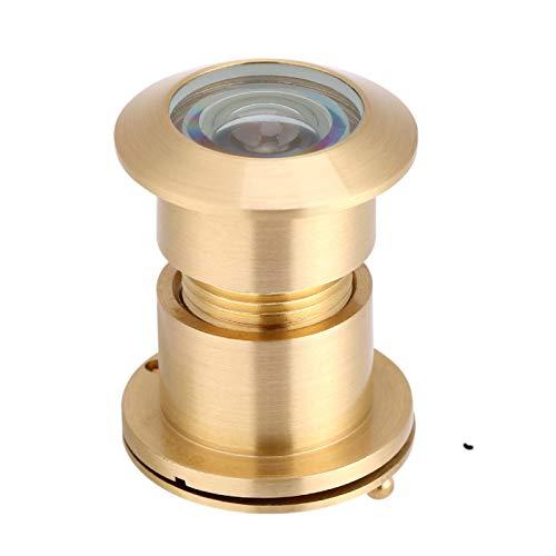 Blantye Visor de puerta con ángulo de visión amplio de 28 mm con cubierta de privacidad de alta resistencia(Oro)