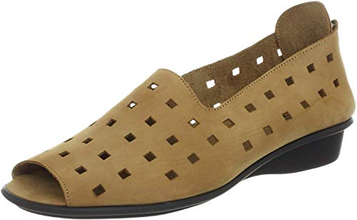 Sesto Meucci womens Evonne flats shoes, Viso Camel Nabuk, 7 US