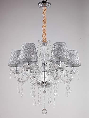 YANQING Durevole Squisita Luci di soffitto lampadario Luce Shades soffitto Tenlion lampadari con 6 luci di Cristallo della Lampada di Soggiorno Sala da Pranzo Camera da Letto