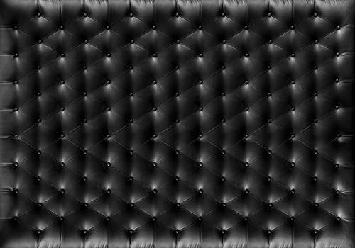 wandmotiv24 Fototapete Chesterfield Leder Schwarz XXL 400 x 280 cm - 8 Teile Fototapeten, Wandbild, Motivtapeten, Vlies-Tapeten Retro, Polster M1431