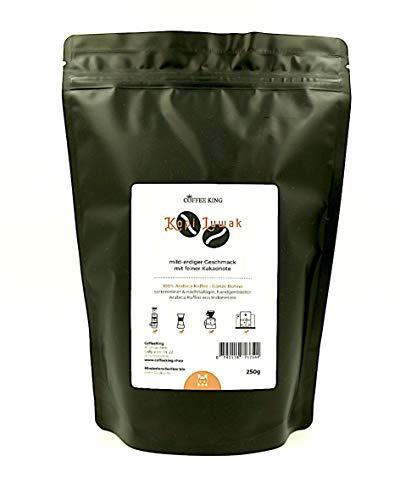 Kopi Luwak 100% Arabica Kaffee 250g (Katzenkaffee von frei lebenden Tieren) (250g Bohne)