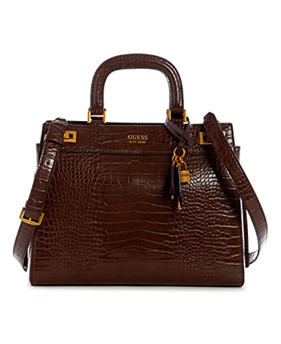 Guess, KATEY LARGE LUXURY SATCHEL Donna, BROWN, Taglia unica