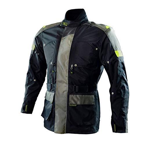 AIROBAG - Motorrad-Airbag-Jacke - Größe L - Farbe Schwarz - Motorradjacke - Touring Modell - Schützt Rücken, Ellbogen und Schultern - Maximaler Schutz - CE EN 1621 und EN 17092