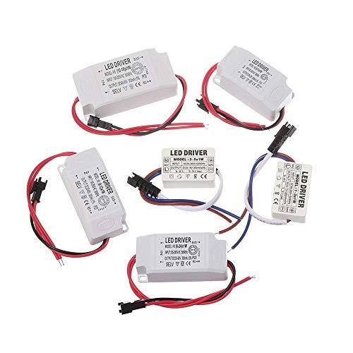 Kyt-my La luz de alimentación del Controlador 1PCS LED 1-3W 4-5W 4-7W 8-12W 18-24W 300 mA de Potencia de iluminación LED Downlight (Voltage : 12 18W)