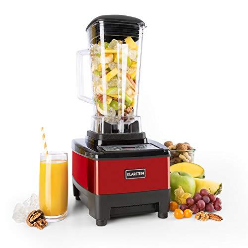 Klarstein Herakles-4G Standmixer - Power-Blender, Hochleistungsmixer, Smoothie Maker, 1500 Watt, BPA-frei, 2 Liter &bulll; 6 Edelstahlklingen, rot