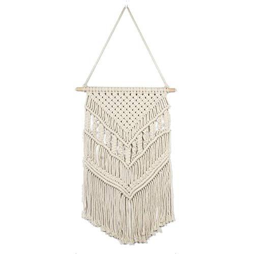 MINGZE Colgante de Pared de macramé, decoración étnica Bohemia de la decoración del Arte del Dormitorio del apartamento, para la decoración casera (453)
