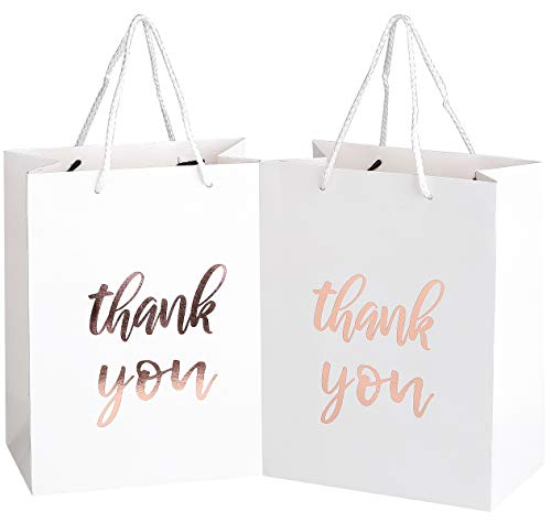 Rose Gold Embossed Party Bags (Set of 12)
