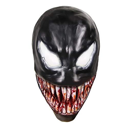molezu Cosplay Venom Maske Halloween Latex Halloween Cosplay Kostümzubehör Halloween Venom Maske Schmelzen Gesicht Prop, Maskerade Parteien, Karneval, Ostern, Halloween