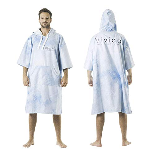 Vivida Lifestyle, Poncho Towel with Hood for Changing, Quick Dry Fabric and Easy Access to Underarms, Large Pocket, for The Beach, Surf