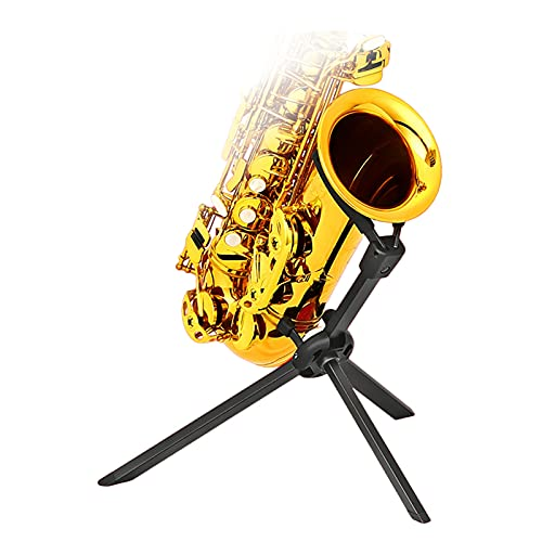 Saxophone Stand, Foldable Alto/alto Saxophone Stand, Triangle Base Instrument Stand, You Need It Regardless of Performance Or Idle (Size : Tenor display stand)