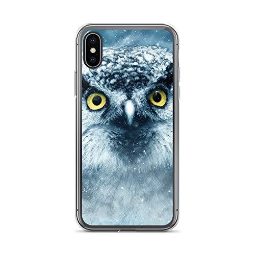 blitzversand Handyhülle TIERAUGEN Zoo Animal kompatibel für Samsung Galaxy S4 Mini Schnee Eule Schutz Hülle Case Bumper transparent M3