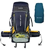TRAWOC Travel Rucksack Backpack Bag for Trekking Hiking Rucksack, Navy Blue carry on bag with check on luggages May, 2021