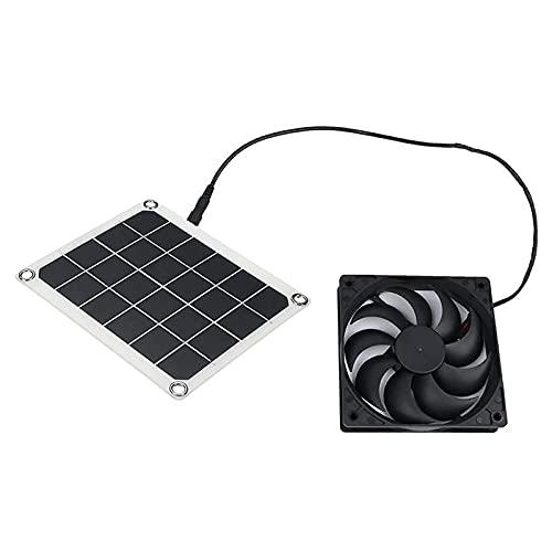 ZXZCHGN Ventilador de escape de panel solar, ventilador de escape portátil impermeable para RVS, panel solar ventilador de escape portátil de ventilador portátil para vehículos de invernaderos de RVS,