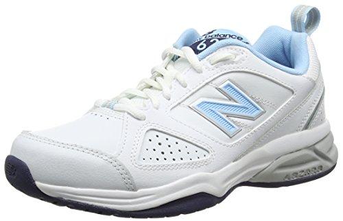 New Balance 624, Zapatillas Deportivas para Interior Mujer, Blanco (White/Blue Wb4), 35 EU