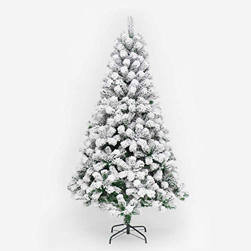 AOIWE 9Ft Premium Snoin Flocked Hinged Artificial Christmas Tree In Metal Stand Eco-friendly Decorated Trees For Holiday-green Diameter280cm (Color : Green, Size : 6Ft)