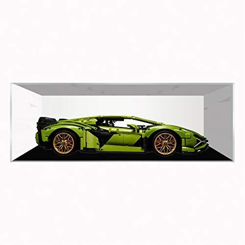 Kepae Vitrine für Lego Technic Lamborghini Sián FKP 37 42115, Autos Baustein Acryl Staubdicht Display Box Show Box