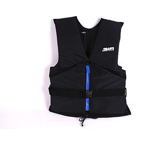 AWN Black Edition Aiuto Galleggiamento Giubbotto Gilet Regata 50 N Galleggiante Sicurezza Nuoto Barca Mare Nautica Kayak SUP Unisex (90-120 kg)