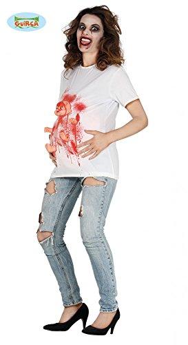 shoperama Embarazada Zombie Mujer Mujer Disfraz de Halloween Horror Camiseta con bebé