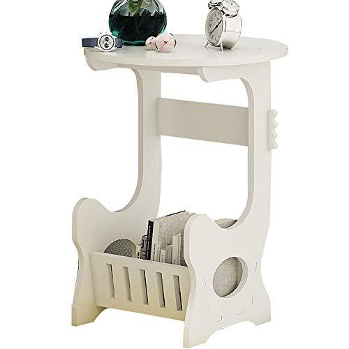 Axdwfd Table de rangement, table de chevet table de côté mini canapé, très approprié pour balcon chambre à coucher salon, etc. 48 * 36 * 36CM (blanc)