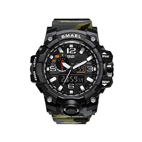 Hombre Relojes, L'ananas Al Aire Libre Deportes Multifuncional Camuflaje Militar LED Relojes de Pulsera Men Watches