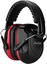 ProCase Noise Reduction Ear Muffs, NRR 28dB Shooters Hearing Protection Headphones Headset, Professional Noise Cancelling Ear Defenders for Construction Work Shooting Range Hunting -Red