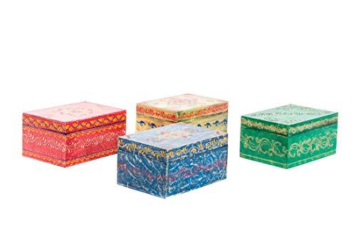 tés & aromas joyero de Madera étnico Pintado a Mano
