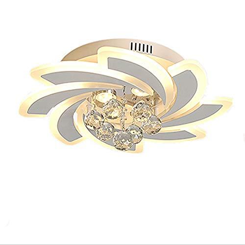 Moderne led-kristallen plafondlamp, semi-embedded metaal acryl kroonluchter licht, dimbare afstandsbediening kinderkamer lamp, geschikt voor woonkamer, slaapkamer, eetkamer, decoratie gevormde deken