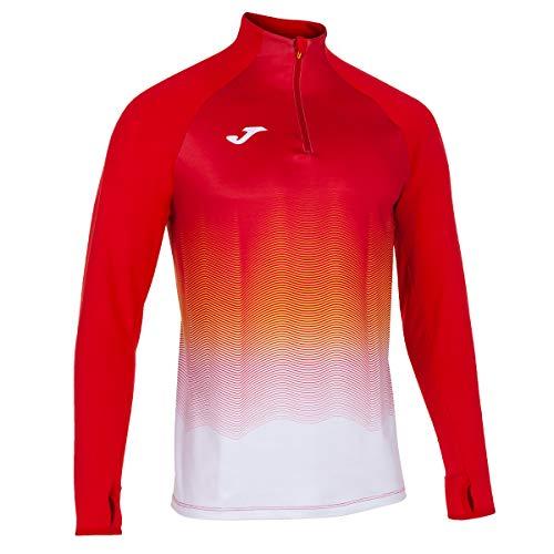 Joma Elite VII Sudadera Running, Hombre, Rojo-Blanco, XL