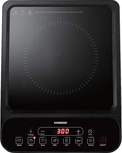 Melissa 16350025 Plaque de cuisson à induction simple avec 7 programmes préréglés, 2000 W
