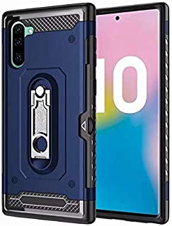 FGGKIMI Kickstand Design Twofold Layer Heavy Duty Shockproof Case Cushy TPU Case for Samsung Galaxy Note 10, for Samsung Galaxy Note 10 Case (Color : Blue)