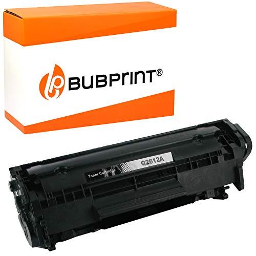 Bubprint Cartucho Tóner Compatible para HP Q2612A 12A para Laserjet 1010 1012 1015 1018 1020 1022 1022N 1022NW 3015 3020 3030 3050 3052 3055 M1005 M1319F MFP Negro