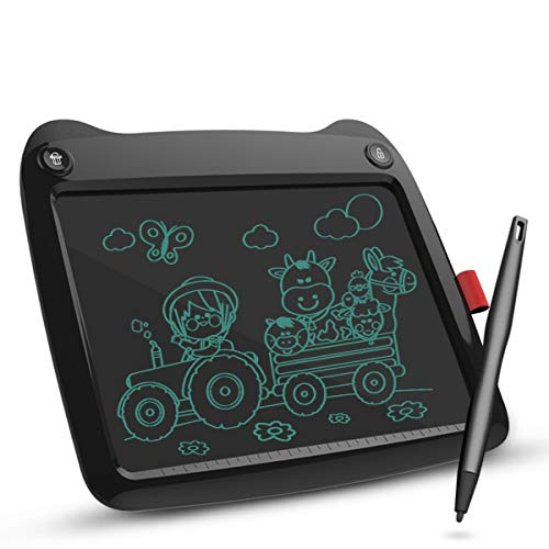 LCD Writing Tablet 9 Inch, Electronic Drawing Board Graphic Tablets with Memory Lock, Handwriting Paperless Notepad Suitable for Home School Job Office (Black)