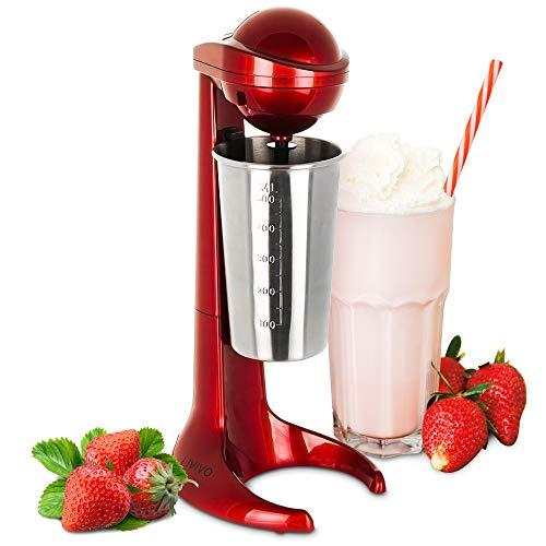LIVIVO - Máquina para batidos de leche con taza de acero inoxidable de 500 ml, ideal para preparar batidos espumosos, batidos de proteínas, mezclas de omelete o incluso mezclar cócteles