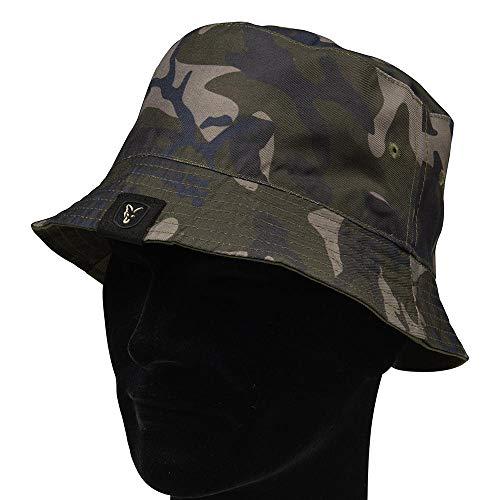 Fox Khaki/Camo Reverse Bucket hat - Hut für Karpfenangler, Angelmütze, Mütze für Angler, Sonnenhut zum Angeln