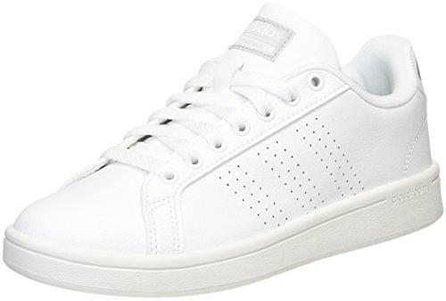 adidas Damen Cloudfoam Advantage Clean Fitnessschuhe, Elfenbein (FTWR White/FTWR White/Silver Met.), 40 2/3 EU