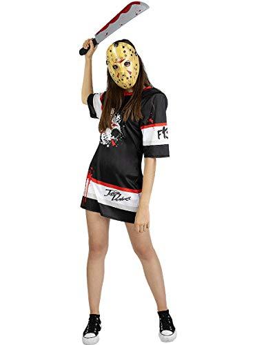 Funidelia | Disfraz de Jason Viernes 13 Hockey Oficial para Mujer Talla S ▶ Friday...