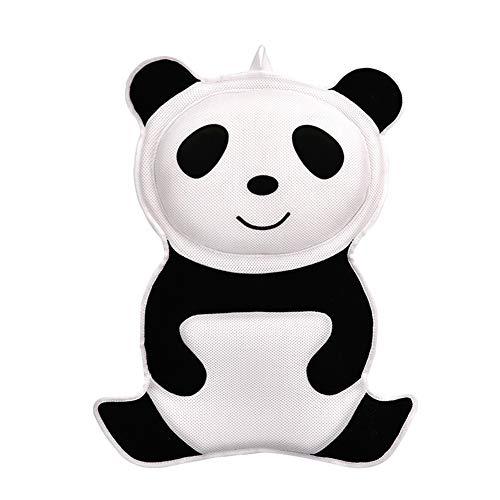 ZLASS Oreiller de Bain, Tapis de Bain Panda, Support antidérapant pour Le Cou et Le Dos avec 6 puissantes têtes à Ventouse et poignées Portables, 21,5 x 15,7 Pouces